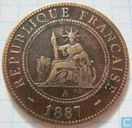 French Indochina 1 centime 1887