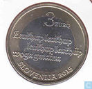 "Slovenia 3 euro 2015 ""500th anniversary of the first Slovenian printed text"""