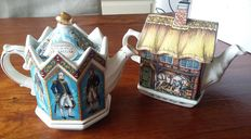 Two decorated teapots. Sadler Classic Collection - around 1995
