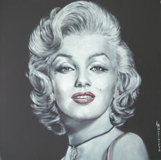 Marilyn Monroe - artwork - L. Martinetto - 20th century - signed by artist