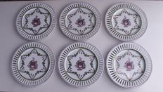 Edme Samson-6 open work plates with coat of arms