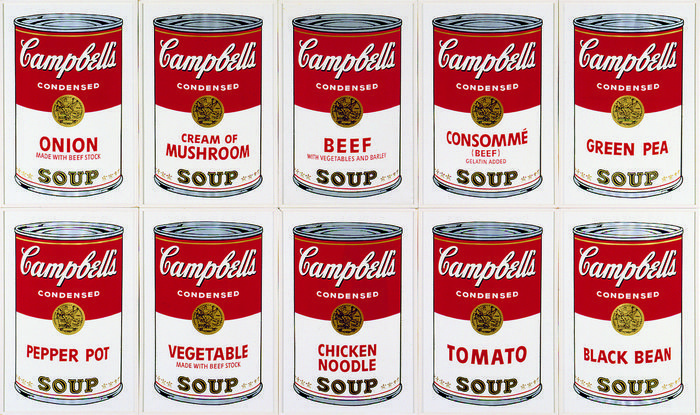 Andy Warhol (after) - 10 Campbell's Soup Cans
