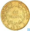 France 40 francs AN XI