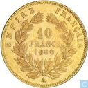 France 10 francs 1860 (A - abeille)