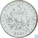 France 5 francs 2001 (nickel)