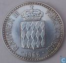 "Monaco 10 francs 1966 ""100th Anniversary of the Accession of Prince Charles III"""