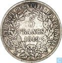 France 5 francs 1849 (A, hand and hand)