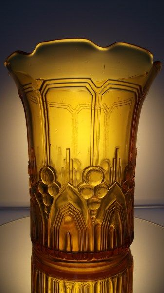 Val Saint Lambert Art Deco Vase Cyclamen In Rare Yellow Catawiki