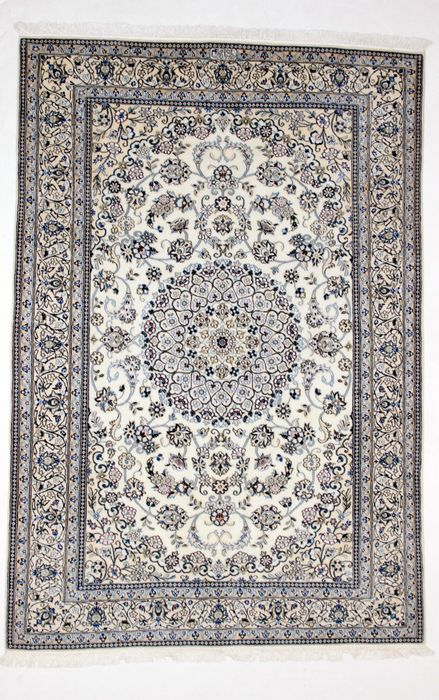 Splendid, delicate Persian NAIN carpet in wool and silk, Iran, 750,000 knots/m2