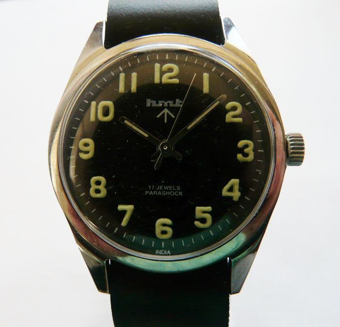 HMT MILITARY WATCH FROM THE MID 70s - A GENUINE EXAMPLE WITH CORRECT INDIAN DEFENCE MINISTRY REFERENCE NUMBERS