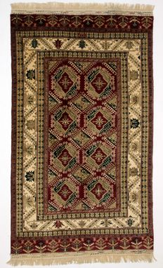 collectible, superb semi-antique Turkmen YAMOUT carpet in perfect condition, 260 x 158 cm, extra fine