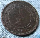 Straits Settlements ½ Cent 1872
