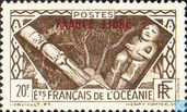 """Country themes, overprint """"France Libre"""""""