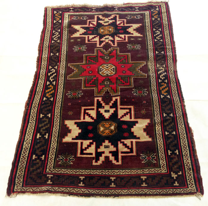 tapis d 39 orient fait main kazak 100x155 cm catawiki. Black Bedroom Furniture Sets. Home Design Ideas