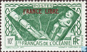 """Counry themes, overprint """"France Libre"""""""
