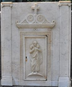 Beautiful 19th century marble tabernacle front.