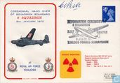 GB Ceremonial Hand-Over of Squadron Standard 8 Squadron 1972 Pilot Signed