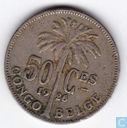 Belgian Congo 50 centimes 1926 (FR) (Overstrike 1925)