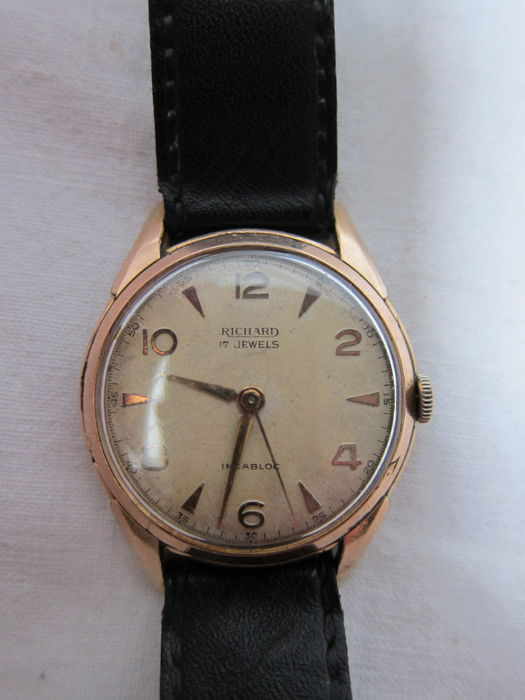 RICHARD 17 jewels -- vintage men's wristwatch -- 1960s