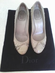 Christian Dior - Heels with silver-plated CD initials.