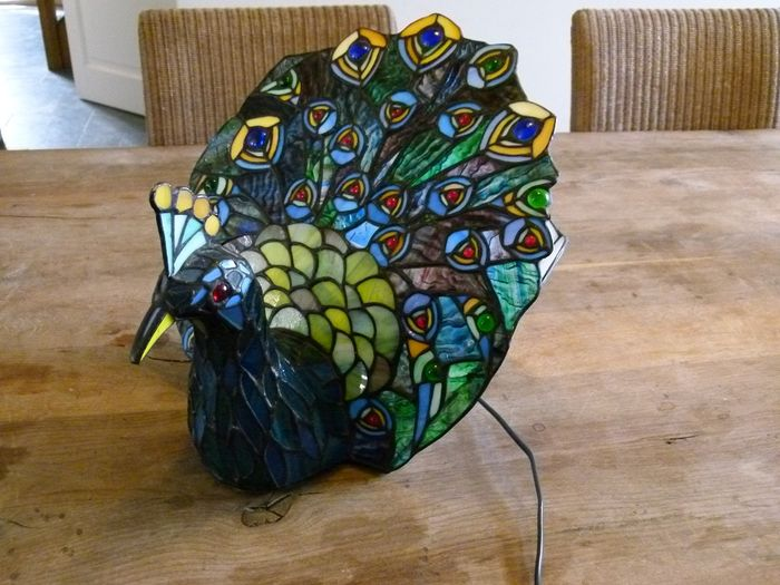 Tiffany Style Peacock Table Lamp Dreampiece Catawiki