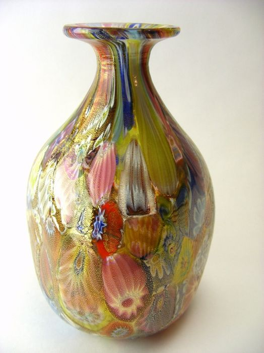 Top Murano Glass Vase With Gold Dust Glass Master Amedeo Rossetto