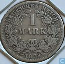 German Empire 1 mark 1878 (F)