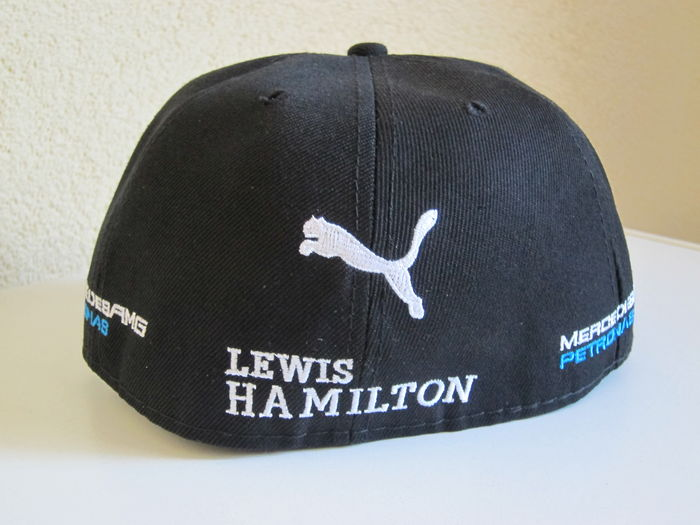 champion du monde formule 1 2008 2014 2015 casquette originale sign e lewis hamilton. Black Bedroom Furniture Sets. Home Design Ideas