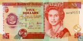 Belize 5 dollars 2009 UNC