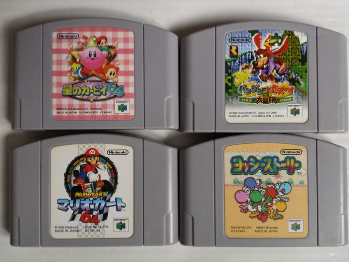Lot Of 4 Games For The Nintendo 64 Japanese Imports Mario Kart 64