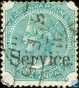 Queen Victoria with overprint Service
