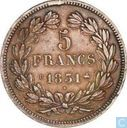 France 5 francs 1831 (Relief text - Laureate head - B)