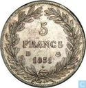 France 5 francs 1831 (Incuse text - Bareheaded - D)
