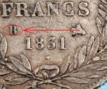 Coins - France - France 5 francs 1831 (Incuse text - Bareheaded - B)