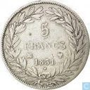 France 5 francs 1831 (Text incuse - Bare head - MA)