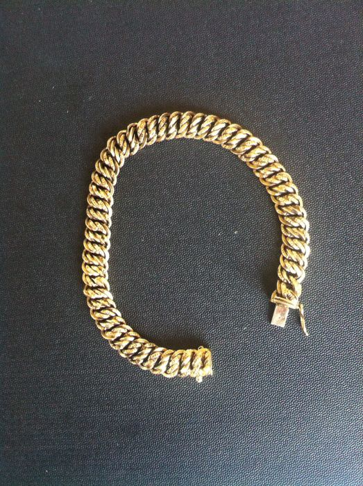 bling bracelet thick cuban cz gold products source