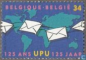 Postage Stamps - Belgium [BEL] - 125 years of UPU