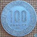 Central African Republic 100 francs 1982