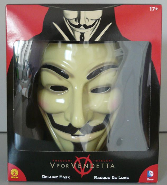 V for Vendetta - DC Comics :  Guy Fawkes Mask - (2013)