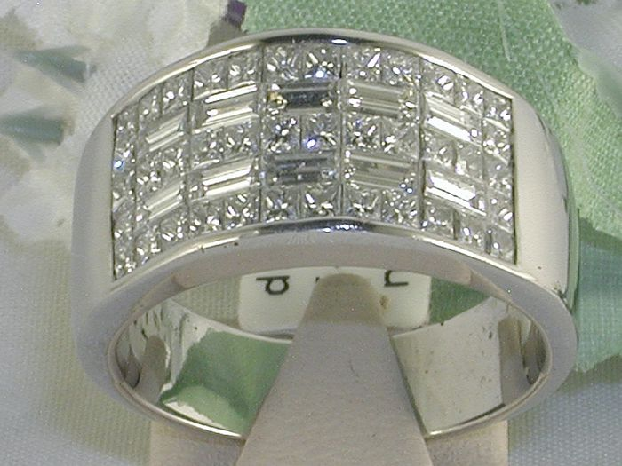 Dames diamant ring met 4,20ct.