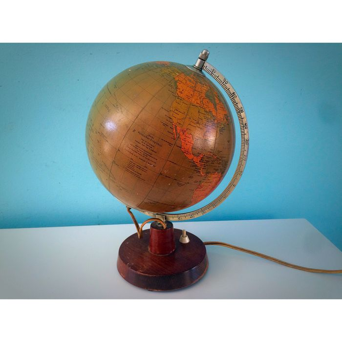 Glass political Rath globe with lighting system - 2nd half of 20th century