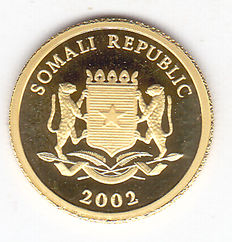 "Somalia – 50 Shillings 2002 ""Gold of the Pharaohs"" – gold"