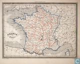 Carte France par Provinces, Frankrijk provincies