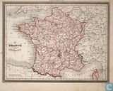 Carte France divisee en 86 Departements