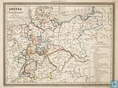 Carte Prusse et Confed on Germanique, Duitsland