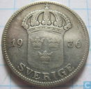 "Sweden 50 öre 1936 ""Long 6"""