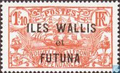 Sailing ship, with overprint