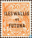 Village, with overprint