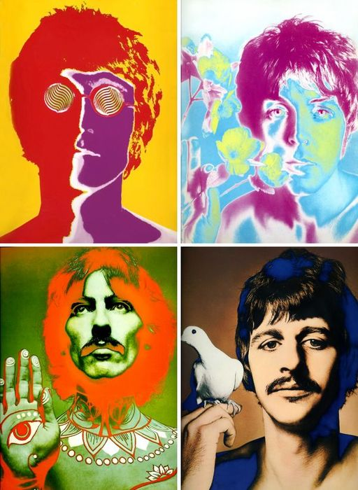 Image result for the beatles psychedelic posters