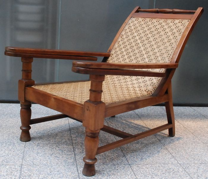 Plantation chair - India - ca. 1960 & Plantation chair - India - ca. 1960 - Catawiki